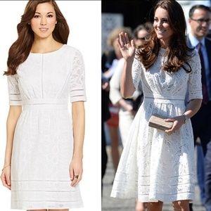 Antonio Melani White Belinda Lace Dress Replikate